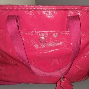 Patent Leather Coach Diaper Bag